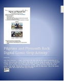Pilgrims and Plymouth Rock Digital Comic Strip