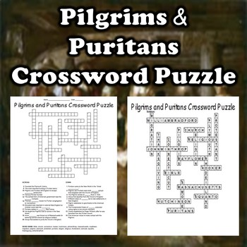 Pilgrims and Puritans Crossword