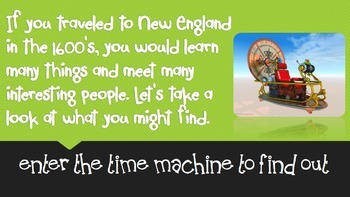 Pilgrims and Puritans in New England - Time Travel