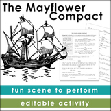 The Mayflower Compact: A Pilgrim Scene