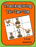 Pilgrims and Turkeys Tic-Tac-Toe (Thanksgiving Games)