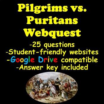 Pilgrims vs. Puritans Webquest