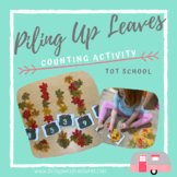 Piling Up Leaves - Counting Activity