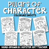 Pillars of Character Coloring Sheets
