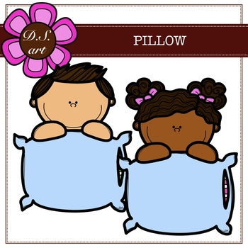 Pillow Digital Clipart (color and black&white)