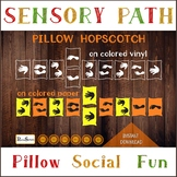 Pillow hopscotch with hands and feet, Sensory Path, Jumping game