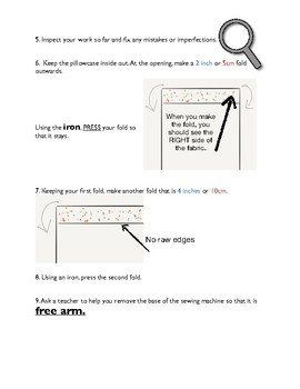 Pillowcase Sewing Instructions