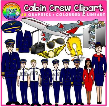 Pilot & Flight Attendant/Cabin Crew Clipart (Career/Job)