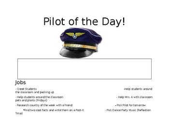 Pilot of the Day Sign