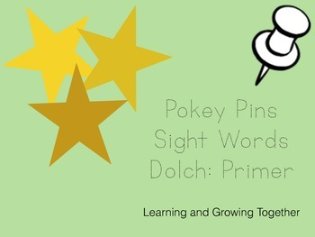 Pokey Pins: Sight Words (Primer)