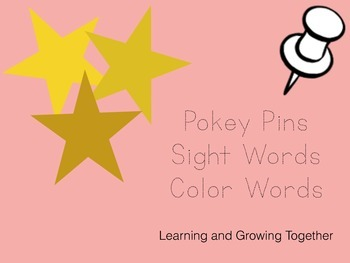 Pokey Pins: Sight Words (Color Words)
