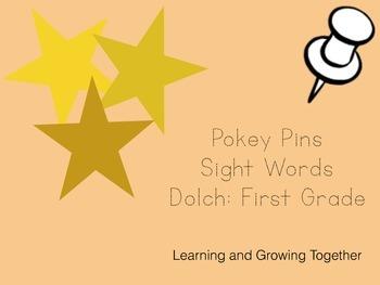 Pokey Pins: Sight Words (First Grade)