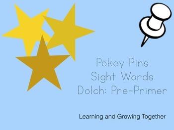 Pokey Pins: Sight Words (Pre-Primer)