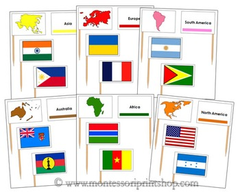 Pin Map Flags Bundle (Color-Coded)
