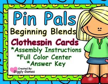 Pin Pals Beginning Blends Clothespin Cards