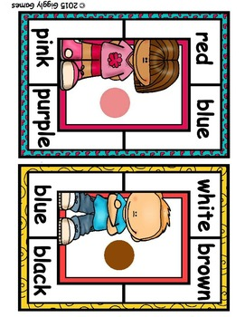 Pin Pals Color Words Clothespin Center