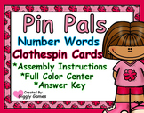 Pin Pals Number Words Clothespin Center