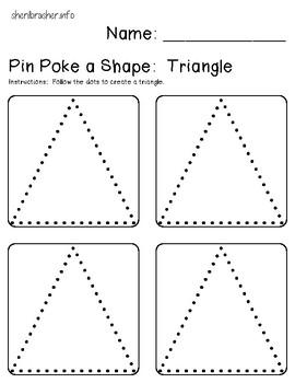 Pin Poke A Shape Basics Prek-K Pack