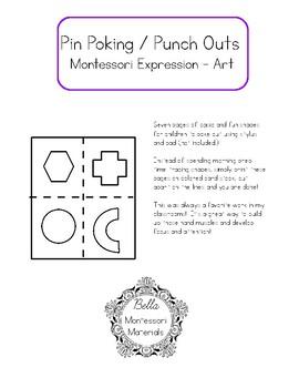 Montessori Pin Poking Shapes
