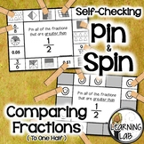 Comparing Fractions (to One Half) - Self-Checking Math Centers