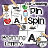 Beginning Letters - Self-Checking Phonics Centers