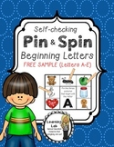 Beginning Letters: Self-Checking Phonics Center (FREEBIE)