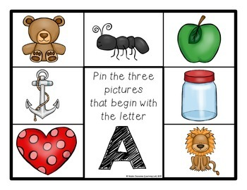 Beginning Letters: Self-Checking Phonics Center (FREEBIE)