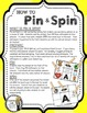 Beginning Letters: A Pin & Spin Activity (FREE SAMPLE)