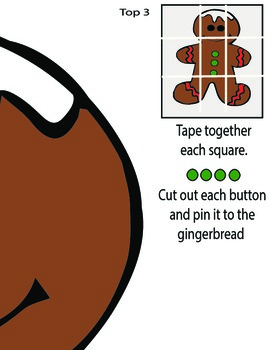 Pin The Button On The Gingerbread Game