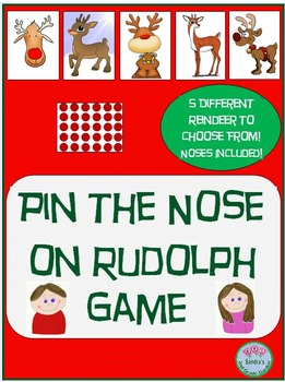 Pin The Nose On The Reindeer! Fun Holiday / Winter Game!