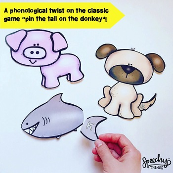 Pin The Tail Sound -Final Consonant Deletion - Phonological Awareness Activities