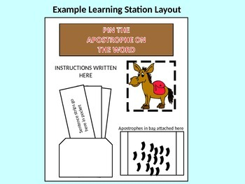 Pin the Apostrophe on the Word - All Teaching Materials
