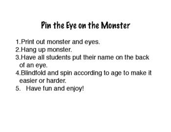 Pin the Eye on the Monster