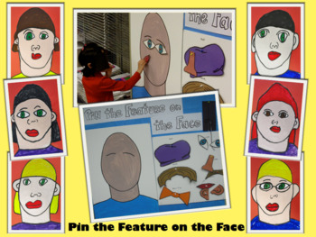 Pin the Feature on the Face Game for Self-Portrait or Picasso Lesson