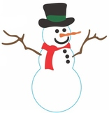 Pin the Nose on the Snowman game
