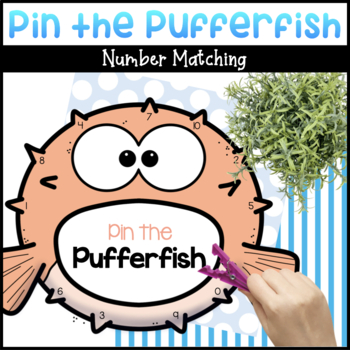 Pin the Pufferfish Number Matching Activity