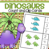 DINOSAURS Count and Clip Cards