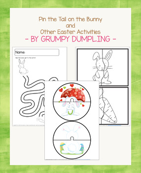 Pin the Tail on the Bunny - Easter Game