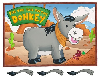 Pin the Tail on the Donkey Printable Poster