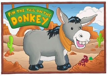 graphic about Pin the Tail on the Donkey Printable called Pin the Tail upon the Donkey Printable Poster