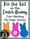 Pin the Tail on the Easter Bunny Color Matching File Folder Activity