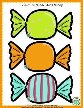 Piñata Garland Bulletin Board 20 Piece Set for Classroom Decoration