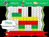 Pinata Hundreds Chart to 120 - Watch, Think, Color! CCSS.1.NBT.A.1