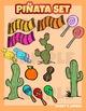 Pinata Mexico cinco de Mayo clip art set
