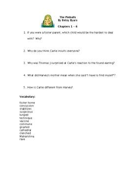 Pinballs Reading Comprehension Questions