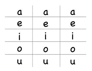 Pinch Card Vowels