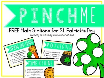 Pinch Me (3 FREE Math Stations for St. Patrick's Day)
