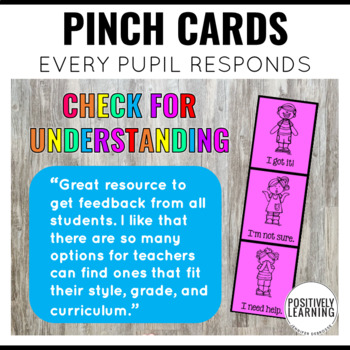 Pinch Me! Check for Understanding Everyday Assessments