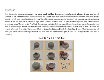 Pinch Pots Transformed Student Handout