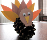 Pine Cone Turkey! for Thanksgiving